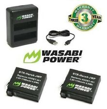 Dual Battery Charger for GoPro HERO4 Wasabi Power (1160mAh) x 2 with USB Go Pro