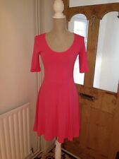"H&M Pink Cotton A Line Dress 3/4 Arms Size S AtoA18 L37"" BNWT *S1"