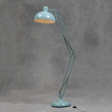 Retro Sky Blue Floor Lamp Angle Large Vintage Anglepoise Style Metal Standing UK