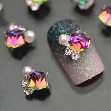 New Charms 10x 3D Nail Art Decoration Multicolor Alloy Glitter Rhinestone