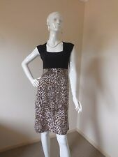 PHILOSSOPHY  ANIMAL PRINT  DRESS  BLACK  BROWN  SIZE 8 RRT$ 99.00