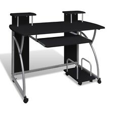 Compact Computer PC Table Desk Keyboard Shelf Modern Home Office Furniture Black