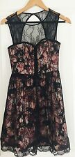 FOREVER NEW DESIGNER FLORAL PRINT LACE LINED WORK PARTY DRESS SZ 6