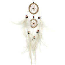 Small Twine & White Feather Dreamcatcher Rustic Natural Wall Hanging Home Decor