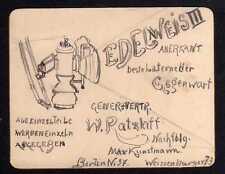 93793 AK Berlin um 1900 Entwurf einer Reklame für Laterne Edelweis III