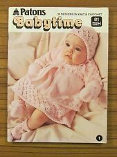 PATONS PATTERN BOOK - BABYTIME #611 30 DESIGNS IN KNIT & CROCHET 3 & 4 PLY