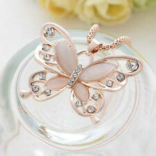 NEW butterfly Pendant Necklace Stainless steel Fashion Women Jewelry Rose Gold