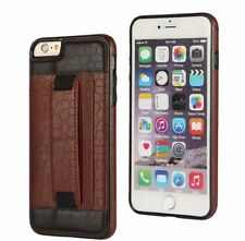 Genuine  Leather sand brown Wallet Case Cover Apple iphone 6 with card pocket