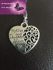 BRAND NEW 2015 MOTHER & DAUGHTER SILVER PLATED HEART NECKLACE(69)