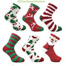 New 6 PAIRS LADIES SOFT TOUCH FLUFFY LOUNGE WINTER CHRISTMAS GIFT BED SOCKS WAR