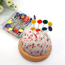 100X Patchwork Pins Flower Button Head Needles Quilting Sewing Tools Accessories