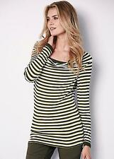 KALEIDOSCOPE OLIVE AND CREAM STRIPED 2 IN 1 TOP SIZE 16 BNWT RRP £35.00