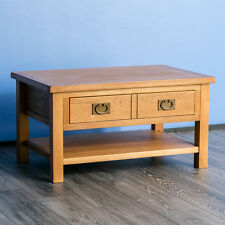 Surrey Oak Coffee Table / Solid Wood Lounge Table / Coffee Table & Drawer / New