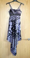 TFNC purple and black silk sun dress with padded breast size 8 / S *brand new*