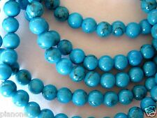 """5mm Turquoise Bead Stretch Bracelet 5 Individual Strands Mix Match Blue 7.5-8"""""""