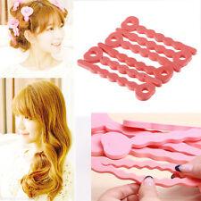 12pcs Magic Sponge Hair Soft Curler Roller Strip Heatless Roll Style Tool