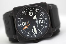 Men's Bell & Ross BR01-93 GMT 24h Automatic Black Watch - Box and Papers