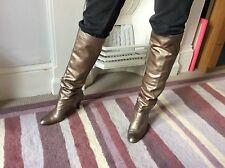 Metallic Colour Russell & Bromley Leather Boots By Stuart Weitzman Size 7.5