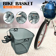 Bicycle Quick Release Front Bike Basket Extra Storage Space Riding Accessories