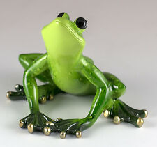 Green Frog Figurine 3 Inch High Resin New In Box