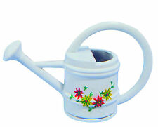1:12 Scale Small White Metal Watering Can Dolls House Miniature Garden Accessory