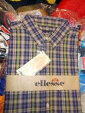 ELLESSE SHIRTsmall  MED LARGE t £15 bnwl check BLUE long sleeve bnwl
