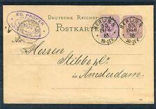 Ganzsache 5 Pfg. Deutsche-Reichs-Post mit ZuF Berlin-Amsterdam - b1713