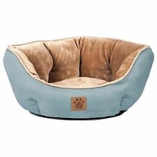 Pet Bed for dogs and cats - Rustic Elegance Clamshell Bed Teal 19 x 17 inch