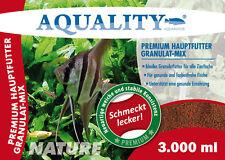 (5,00€/l) AQUALITY PREMIUM Hauptfutter Granulat-MIX Cichliden Fischfutter 3 L