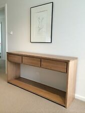 3 drawer Local make tassie oak hardwood hall table console table