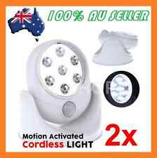 2 x New Motion Activated Cordless 7 LED Light Angel SENSOR Outdoor Living Lamp