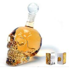 1000ml Crystal Glass Skull Head Bone Wine Decanter Novelty Cup Glass Bottle
