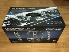 HARMAN KARDON SOUNDSTICKS WIRELESS LAPTOP SPEAKERS IPOD IPHONE MAC MP3 SPEAKERS