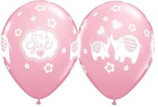 Party Supplies Baby Shower It's A Girl Elephants Latex Balloons Pack of 10