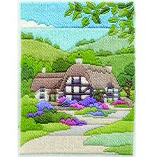 Derwentwater Designs Summer Cottage Long Stitch Kit