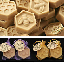 Goat's Milk Oats and Honey, guest/ travel soap (Beehive), 10pcs -Cold Processed