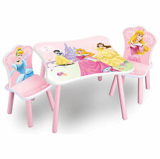DELTA CHILDREN DISNEY CLASSIC PRINCESS KIDS WOODEN PINK GIRLS TABLE & CHAIRS SET