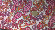 Pink Paisley pattern fabric 100% cotton lawn by the metre