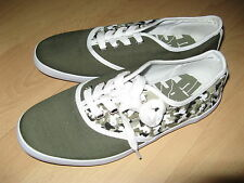 NEW GREEN BOXFRESH CANVAS PLIMSOLLS FASHION YACHT DECK SHOES PLIMSOLLS SIZE 9 UK
