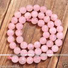 8mm Pink Rose Quartz Round Gemstone Loose Beads Natural Jewelry Findings