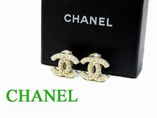 CJ AUTHENTIC CHANEL Earrings Silver 2cm Grade BC Used