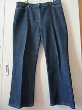 Sportscraft Womens Blue Denim Stretch Jeans Wide Leg Size 18