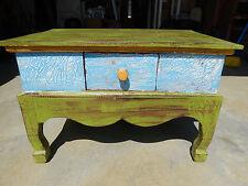 Tisch aus Vollholz Couchtisch Wohnzimmer Beistelltisch Vintage Shabby Echtholz