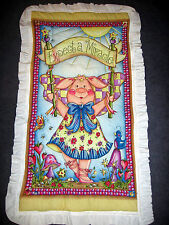Pigs Fly Miracle 3-D Handmade Quilted Nursery Wall Hanging or Baby Quilt 25 x 45