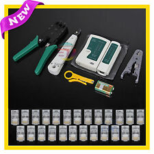 New Lan Network Cable Tester Crimper Punch Down Tool Stripper Kit CAT5 CAT6 RJ45