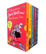 The World Of David Walliams Collection 5 Books Box Set Gansta Granny, Mr Stink..