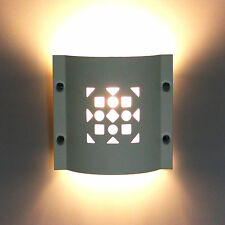 MODERN METAL WALL LIGHT UPLIGHTER DOWNLIGHTER MOSAIC WHITE 60W PAINTABLE - NEW