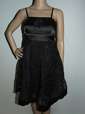 BLACK 2 LAYER STRAPLESS PARTY MAXI DRESS WITH STRAPS SIZE 8 - G - SHAPE