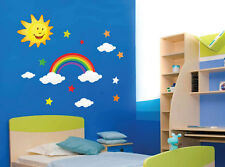 Rainbow Sun Star Cloud Wall Stickers Kid children Nursery Wall Decals 20-2
