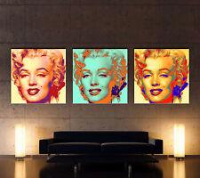 FEEL - MARILYN MONROE - POP ART Leinwand 3 Bilder Bild Art Kunstdruck No Poster